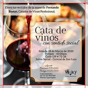 cata de vinos con sentido social acfemenina 2020