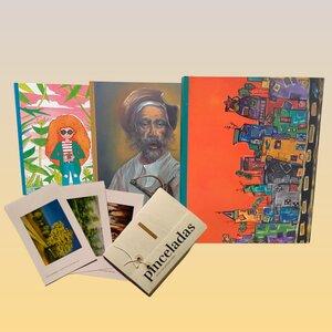 Libreta con sentido social + postales Pinceladas x 12 und